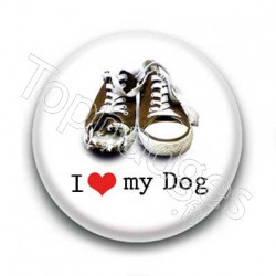 Badge I Love My Dog