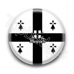 Badge Blason Breizh Sur Fond Blanc