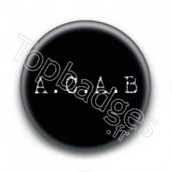 Badge A.C.A.B. Fond Noir