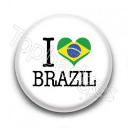 Badge I Love Brazil Sur Fond Blanc