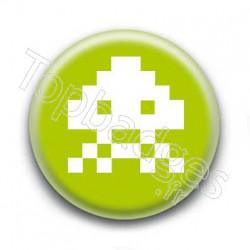 Badge Alien Pixel Vert Anis
