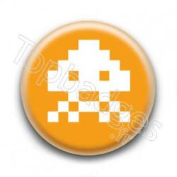 Badge Alien Pixel Orange