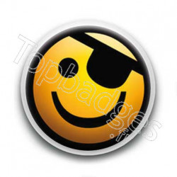 Badge Smiley pirate