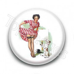 Badge pinup chien