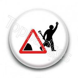 Badge : Panneau travaux
