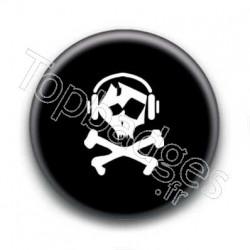 Badge tête de mort musique
