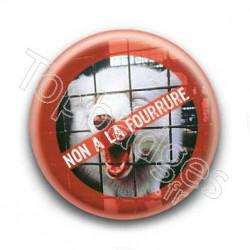 Badge non a la fourrure