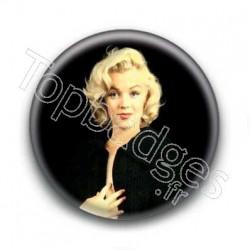 Badge Actrice Marilyn Monroe Fond Noir