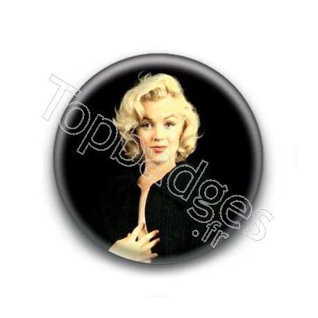 Badge : Tenue noire, actrice Marilyn Monroe