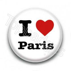 Badge I Love Paris