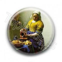 Badge  Johannes Vermeer - La Laitiere