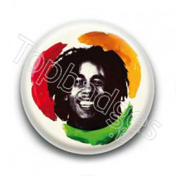 Badge Chanteur Bob Marley