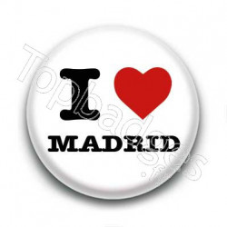 Badge I Love Madrid