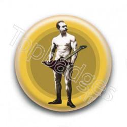 Badge : Guitare, culturiste Edmond Desbonnet