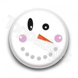 Badge bonhomme de neige