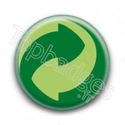Badge point vert