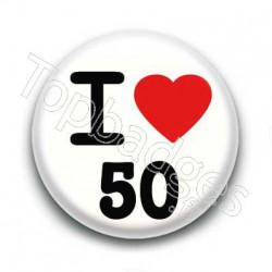 Badge I love 50
