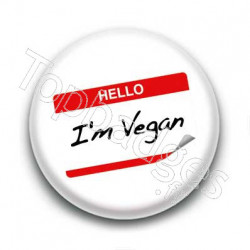 Badge hello I'm vegan