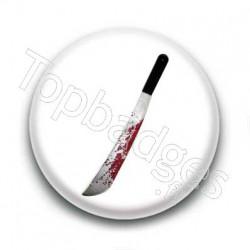 Badge couteau sanglant