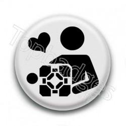 Badge Portal Companion Cube