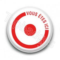 Badge : Vous êtes ici