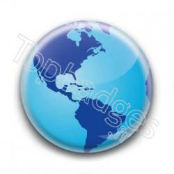 Badge Globe 1