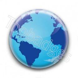 Badge Globe 2