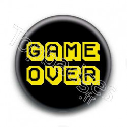 Badge Game Over Jaune