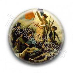 Badge Eugène Delacroix - La liberté guidant le peuple
