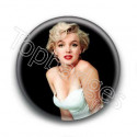 Badge : Robe Blanche, actrice Marilyn Monroe