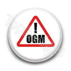 Badge attention danger OGM
