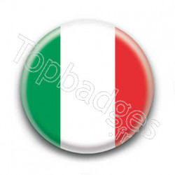 Badge Drapeau Italie