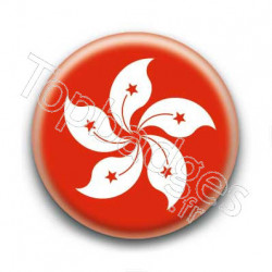Badge drapeau Hong Kong