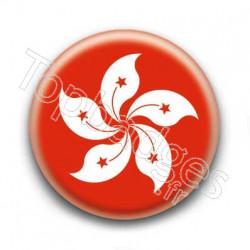 Badge drapeau Hong Kong