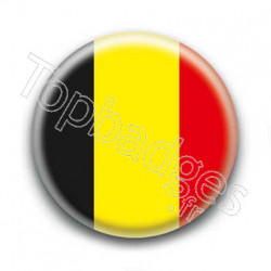 Badge drapeau belgique