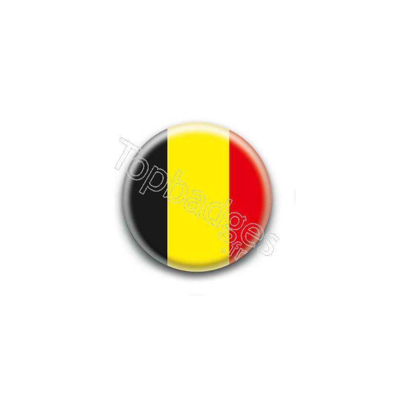 Badge bouton 25mm drapeau belgique - Bouton de liege ...