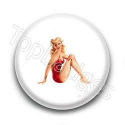 Badge : Pin'up maillot