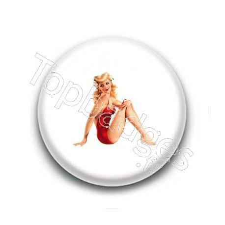 Badge : Pin'up maillot