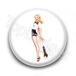Badge pin up short