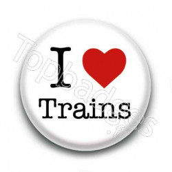 Badge I Love Trains