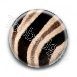 Badge zébré noir et beige