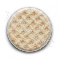 Badge laine beige