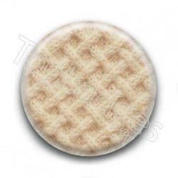 Badge laine beige