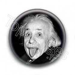 Badge Scientifique Albert Einstein Célèbre Photo