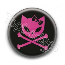 Badge Chat Rose & Rock