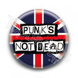 Badge Punks not Dead British