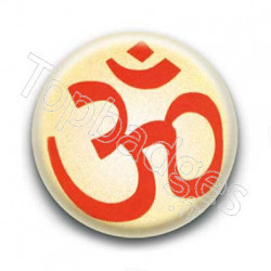 Badge OM Syllabe Sanskrit Mantra