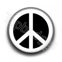 Badge Peace Blanc