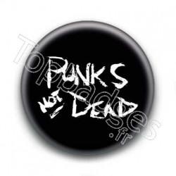 Badge Punks Not Dead Craie
