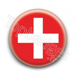 Badge Drapeau Suisse